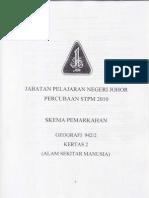 Skema Jawapan Percubaan STPM 2010 Geo2 Johor