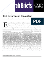 Tort Reform and Innovation