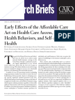 Early Effects of the Affordable Care Act on Health Care Access, Risky Health Behaviors, and Self-Assessed Health
