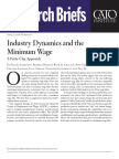 Industry Dynamics and the Minimum Wage