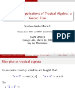 Methods and Applications of Tropical Algebra