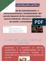 Procesal Penal intervencion de comunicaciones y telecomunicaciones