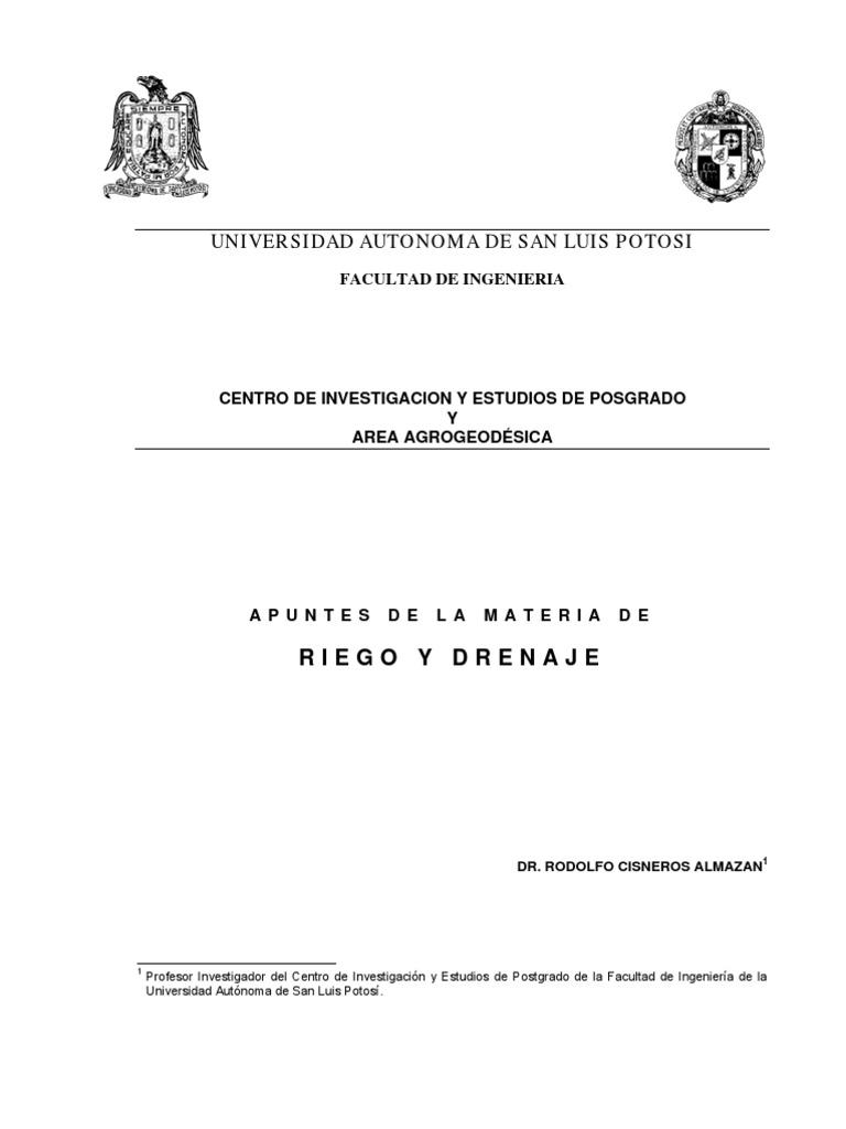 Apuntes de Riego y Drenaje v.2