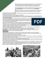 Resumen Primera y Segunda Guerra Mundial