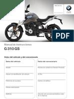 Manual BMW g 310 gs