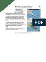 NHC Florence 11 a.m. update