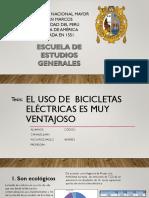 El Uso de Bicicletas Electricas Tiene Muchos Beneficios