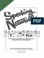 Speaking Naturally Tillitt Bruce Newton Bruder Mary