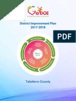 Taliaferro District Improvement Plan FY19 Amendment