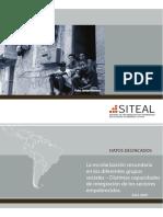 La escolarización secundaria en los diferentes grupos sociales - Distintas capacidades de integración de los sectores empobrecidos