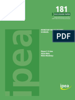 Discussion Paper - MONETARY POLICY REGIMES IN BRAZIL