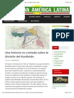 Historia de la división del Kurdistán