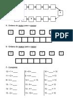 Fichas Preparação Fichas Sumativas 2º Periodo -1º ano matemática