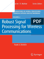 Robust Signal Processing for Wireless Communications No 2 Foundations in Signal Processing Communications and Networking