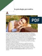 Qué Es La Psicología Preventiva
