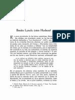 Benito Lynch Artículo Iberoamericana