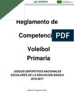 Primaria - VOLEIBOL - Reglamento