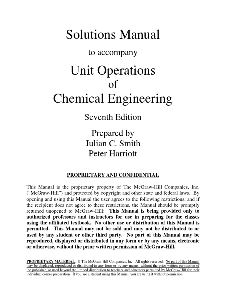 unit operations of chemical engineering 7th edition solutions rh scribd com