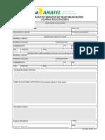 Formulário Padrão da Anatel