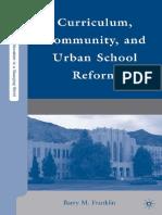Curriculum Community and Urban School Reform