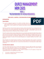 HRM2605 Notes