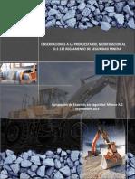 Observaciones Al Reglamento de Seguridad Minera