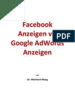 Facebook Anzeigen vs Google AdWords Anzeigen