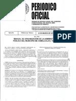 Manual de Organización de La Admon Publica de Comalcalco