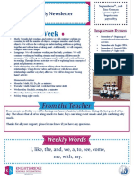 weekly newsletter sept 10th