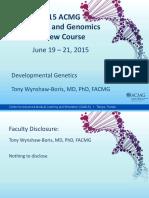 Developmental Genetics (1)