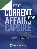 Current Affairs Capsule April 2018