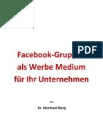 Facebook Gruppen als Werbe Medium für Ihr Unternehmen