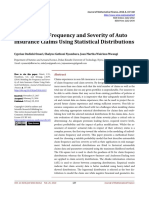 Modeling the Frequency and Severity of Auto Insura