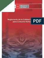 Reglamento de la calidad del agua de consumo