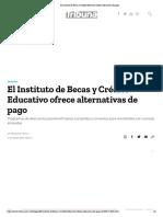 17-08-18-TRIBUNA-El Instituto de Becas y Crédito Educativo ofrece alternativas de pago