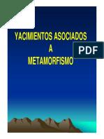 yacimientos asociados a metamorfismo