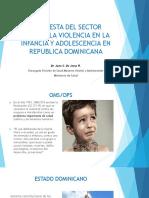 La Violencia Como Un Problema de Salud Publica. Foro Vcnn Rep. Abril,2018