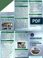 Brosur Jurusan Biologi 2018