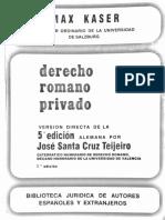 Kaser - Derecho Romano Privado