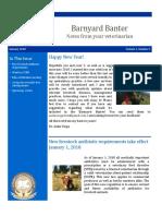 barnyard banter january 2018