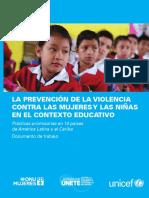 Semana 1 ONU UNICEF Prevención de La Violencia Contra Las Mujeres y Las Niñas en El Contexto Educativo