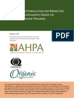 AHPA_QAI_OTA_Guidance on formulation and marketing of dietary supplements under the NOP.pdf