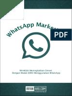 RAHASIA Meningkatkan Omset Dengan Modal ZERO Menggunakan WhatsApp Marketing - Irfan ABD