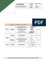 ACAD-P-30 Procedimiento de Seguimiento