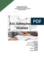Acto Administrativo-Dictamen