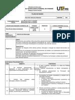 CN33H - POLITICAS EDUCACIONAIS