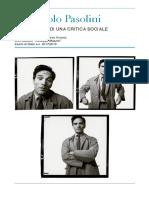 Tesina - Pier Paolo Pasolini, Lo Scandalo Di Una Critica Sociale
