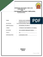 Informe Del Tunel Final