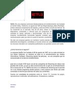 Ejemplo de NETFLIX Desarrollo Sostenible