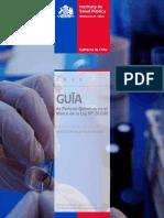guía sustancias ilicitas Gobierno de Chile
